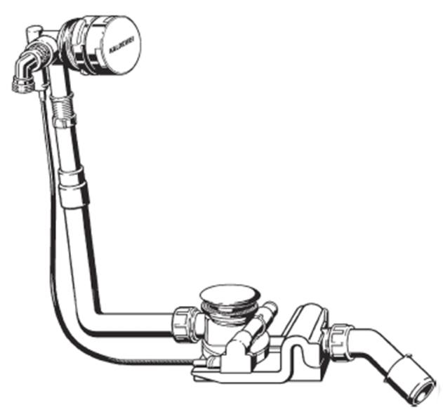 Kaldewei sifón vaňový autom. Comfort Level Plus, s napúšťaním 4012, chróm (687770620000)
