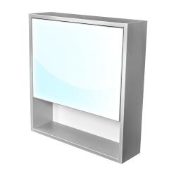 CEDERIKA - Amsterdam galerka 1x výklopné farba zrkadlo v AL ráme korpus korpus svetlosivá šírky 60 (CA.G1V.191.060)