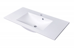 CEDERIKA - SLIM 90 umývadlo z liateho mramoru - BIELE (CA.05484)