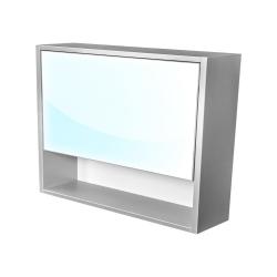 CEDERIKA - Amsterdam galerka 1x výklopné farba zrkadlo v AL ráme korpus korpus svetlosivá šírky 90 (CA.G1V.191.090)