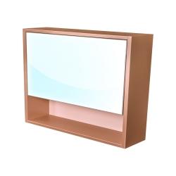 CEDERIKA - Amsterdam galerka 1x výklopné farba zrkadlo v AL ráme korpus korpus metallic medený šírky 90 (CA.G1V.193.090)