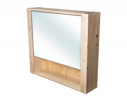CEDERIKA - Bern galerka masív smrek natur lak zrkadlo v AL ráme šírky 70 (CB.G1V.191.070)