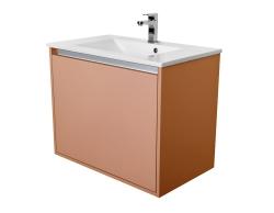 CEDERIKA - Amsterdam umývadlová 1x šuplík farba metallic medený korpus korpus metallic medený šírka 75 (CA.U1B.133.075)