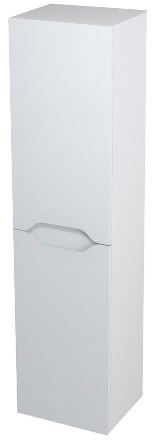 SAPHO - WAVE skrinka vysoká s košom 35x140x30cm, pravá, biela (WA246P)