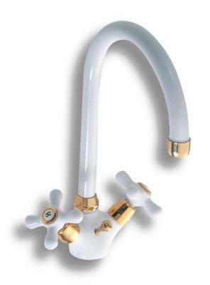 NOVASERVIS - Drezová batéria Classic biela-zlato (8113,3)