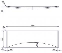 Panel k vani MITO RED 160 CW (TS401-003), fotografie 2/2