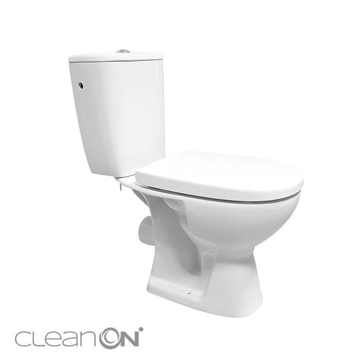 CERSANIT - WC KOMBI 613 ARTECO 010 3/5 NEW CLEANON + DUROPLAST SEDADLO SOFTCLOSE (K667-052)