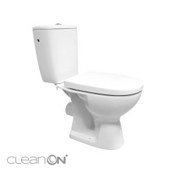 WC KOMBI 613 ARTECO 010 3/5 NEW CLEANON + DUROPLAST SEDADLO SOFTCLOSE (K667-052), fotografie 8/8