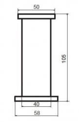 CERSANIT - Nábytkové nohy ALPINA/LAURA 4 kusy (S599-0030), fotografie 2/1