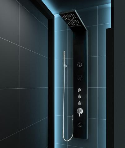 Aquatek - Hawai Hydromasážní sprchový panel s vodopádem, způsob montáže na zeď, baterie mechanická (Hawai-264)