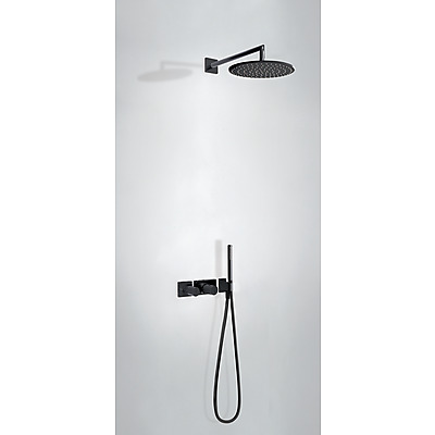 TRES - Podomietkový termostatický sprchový set BLOCK SYSTEM s uzáverom a reguláciou prietoku (2-cestná) (20735201NM)