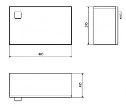 CERSANIT - 002-DSM) skrinka NANO závesná univerzálny HNEDÁ, fotografie 2/1
