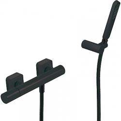TRES - Sprchová batéria Ručná sprcha s nastaviteľným držiakom, proti usa. vôd. kameňa. Flexi hadice. (20016701NM)