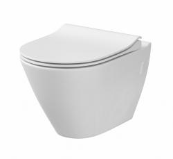 CERSANIT - WC sedátko CITY OVAL SLIM antib. OFF EASY jedno tlačidlo (K98-0146), fotografie 10/5