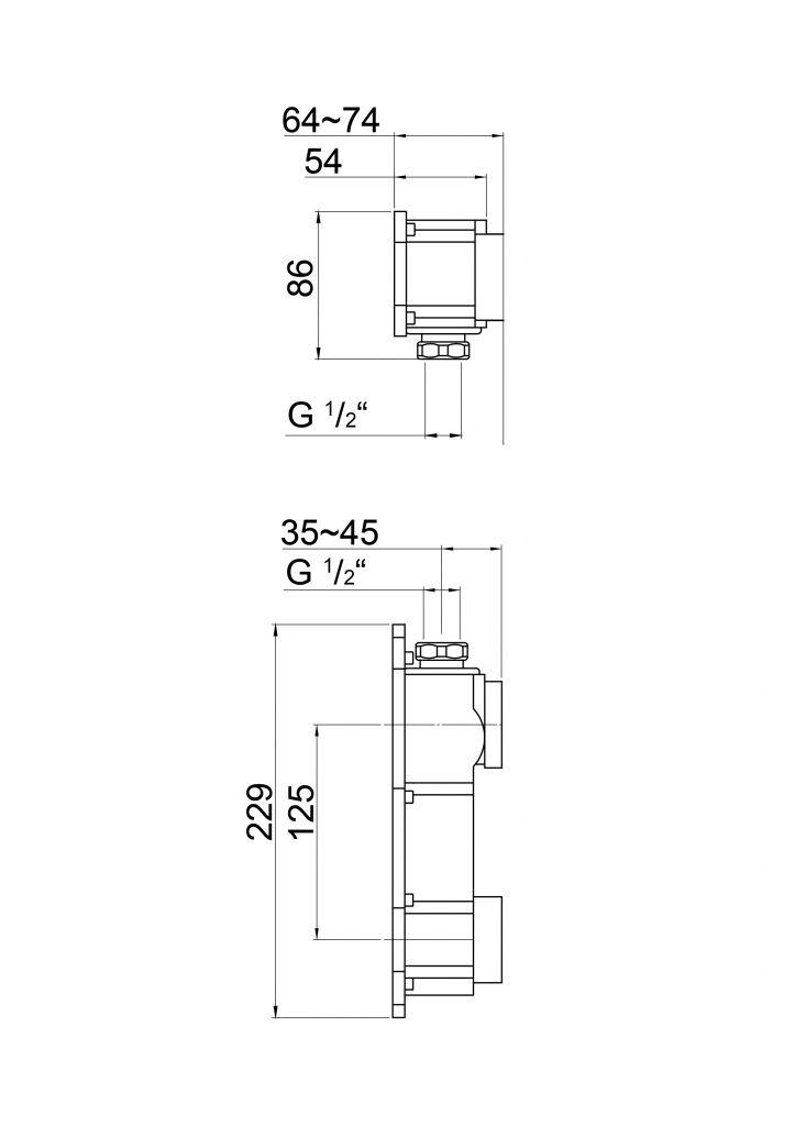 STEINBERG - Podomietkové teleso pre 2-otvorové batérie (010 1800)