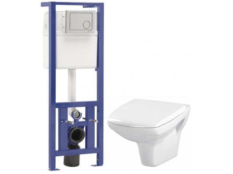 CERSANIT - SET- podomítkový systém LINK+ WC mísa CARINA+duroplastové sedátko (K97-286)