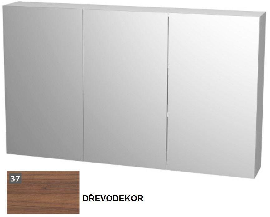 VÝPRODEJ - Zrkadlová skrinka s obojstranným zrkadlom 120 × 13 × 72 cm E ZS 120 37 (MK31696VYP)