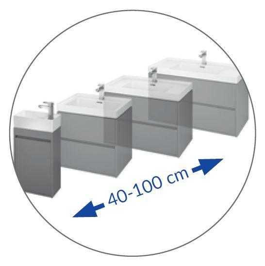CERSANIT - NÁBYTKOVÉ UMÝVADLO 40 CREA BOX (K114-004)