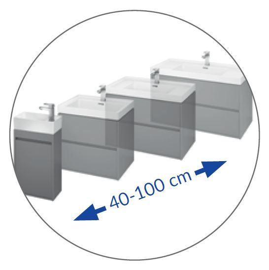 CERSANIT - NÁBYTKOVÉ UMÝVADLO 50 CREA BOX (K114-005)