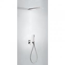 TRES - Podomietková sprchová jednopáková set s uzáverom a reguláciou prietoku, vrátane telesa (21198092)