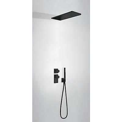 TRES - Podomietkový termostatický sprchový set BLOCK SYSTEM s uzáverom a reguláciou prietoku (2-cestná) (20635202NM)