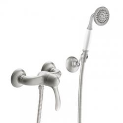 TRES - Jednopáková sprchová batéria Ručná sprcha s nastaviteľným držiakom, proti usa. vôd. kameňa. Flexi hadica s dvojitým opletom (24216701AC)