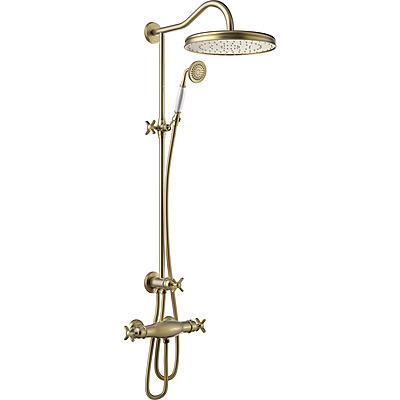 TRES - Súprava termostatické sprchové batérie · Pevná sprcha O 310 mm. s kĺbom. · Sprcha, proti usa. vôd. kameňa O 78 mm. · Flexi hadica s dvojitým opletom. (24219501LV)