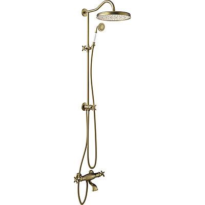 TRES - Súprava termostatické batérie pre vaňu-sprchu · Pevná sprcha O 310 mm. s kĺbom. · Sprcha, proti usa. vôd. kameňa O 78 mm. · Flexi hadica s dvojitým opletom. (24219801LV)