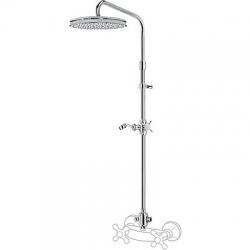 TRES - TYAE A SPRCHA Výsuvná tyč RETRO, pevná sprcha Ø310 mm s rozdeľovačom (02421301LV)