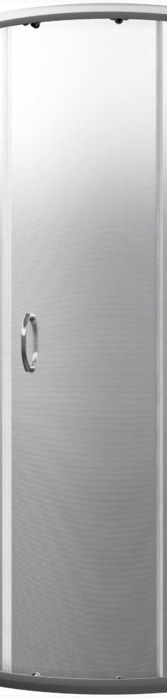 CERSANIT - Náhradné dverné sklo / tkanina / do sprchovacieho štvrťkruhového kúta Saona 180cm (S900-2506)