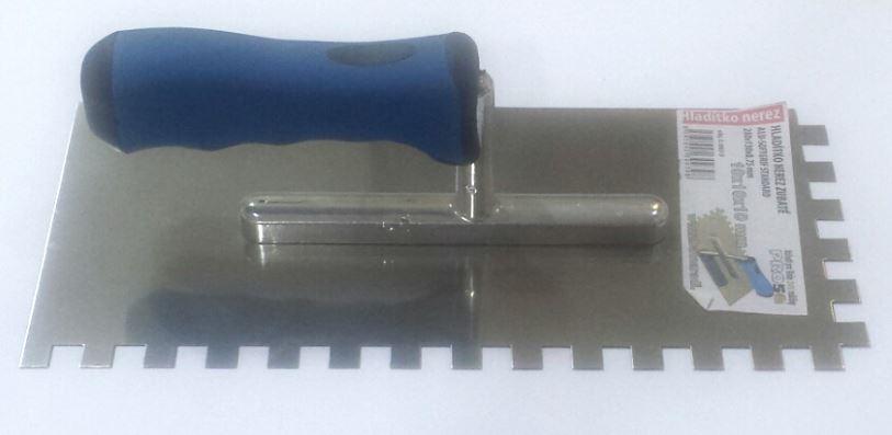 Ostatní - HLADÍTKO NEREZ ZUBATÉ E10x10x10 2 80 x 130 x 0,75 ALU-SOFTGRIF STANDARD (BAT/ 065-3)