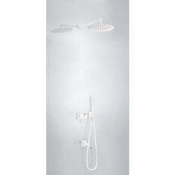 TRES - Vstavaná jednopáková batéria 3V · Vrátane podomietkového telesa (3-cestná) · Pevná sprcha O (21027313BM)