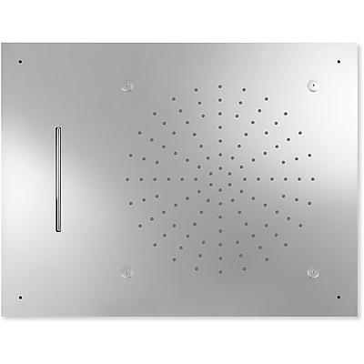 TRES - Stropné sprchové kropítko z nerez. ocele, proti usa. vôd. kameňa 3 typov prúdenia vody (Dé (29997101)