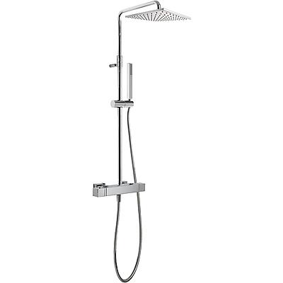 TRES - Súprava termostatické sprchové batérie · Pevná sprcha 300x300 mm. s kĺbom. Materiál mos (00719501)