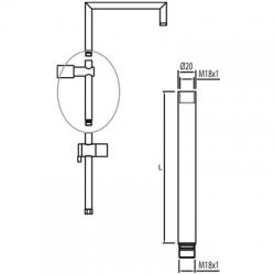 TRES - ProdlužkaL=650 mm. (per ref. / for Nr. / Kód: 90.481, 90.583, 90.281, 90.393) (13446302)