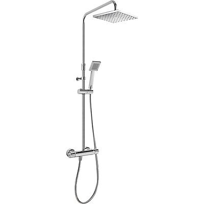 TRES - Súprava termostatické sprchové batérie · Pevná sprcha 200x200 mm. s kĺbom. · Ručné sprc (20438704)