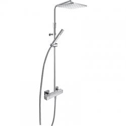 TRES - Sprchová súprava, proti usa. vôd. kameňa Cuadro · Pevná sprcha 250x250 mm. s kĺbom. (1 (00719701)