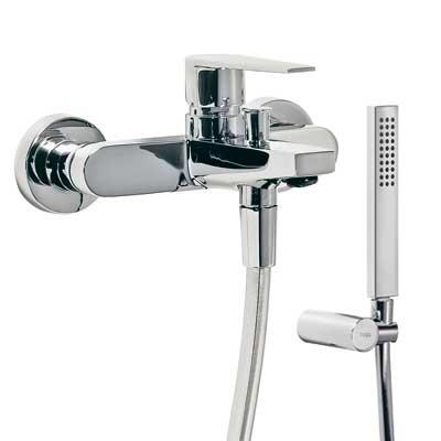 TRES - Vaňová batéria Ručná sprcha (299.631.08) s nastaviteľným držiakom, proti usa. vôd. kameňa (20517001)