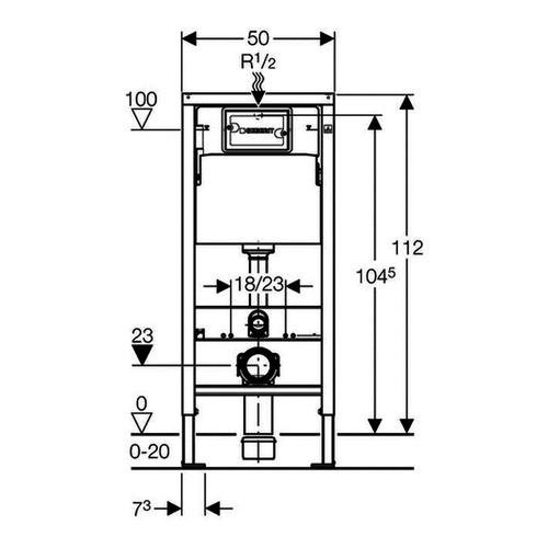 VIEGA - Eco Plus modul pro WC, čelní ovl., do jádra, model 8136 (V 622176), fotografie 2/1