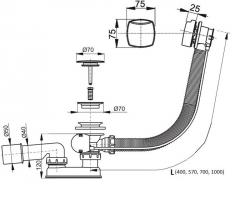 Výpusť Santech 57 cm (VYPSA57), fotografie 2/1