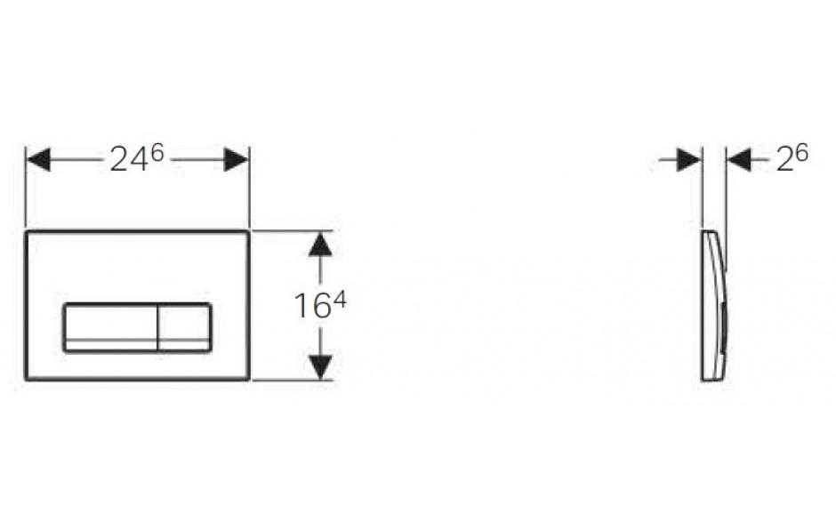 AKCE/SET/GEBERIT - Duofix Sada pre závesné WC 458.103.00.1 + tlačidlo + WC CERSANIT CREA HRANATÉ CLEANON + Sedadlo (458.103.00.1 CR2), fotografie 6/9