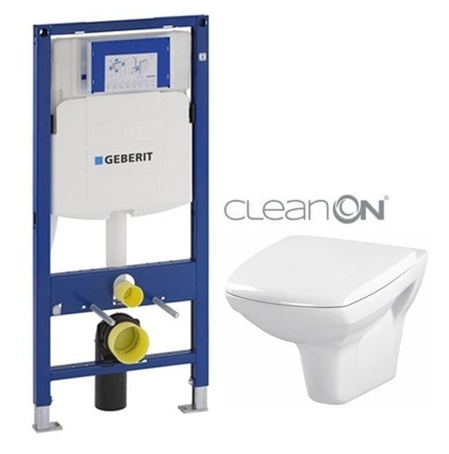 GEBERIT Duofix bez ovládacej dosky + WC CERSANIT CLEANON CARINA + SEDADLO 111.300.00.5 CA1