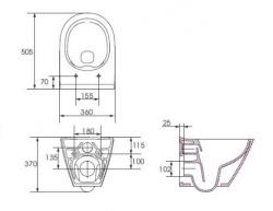 AKCE/SET/VIEGA - MONO modul WC čelné ovládanie + ovládacie tlačidlo CHRÓM + WC CERSANIT CITY CLEAN ON + SEDADLO (V606732CR CI1), fotografie 16/9