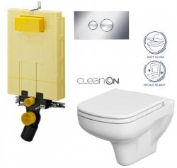 AKCE/SET/VIEGA - SET MONO modul WC čelné ovládanie + ovládacie tlačidlo CHRÓM + WC CERSANIT COLOUR CLEAN ON + SEDADLO (V606732CR CN1)