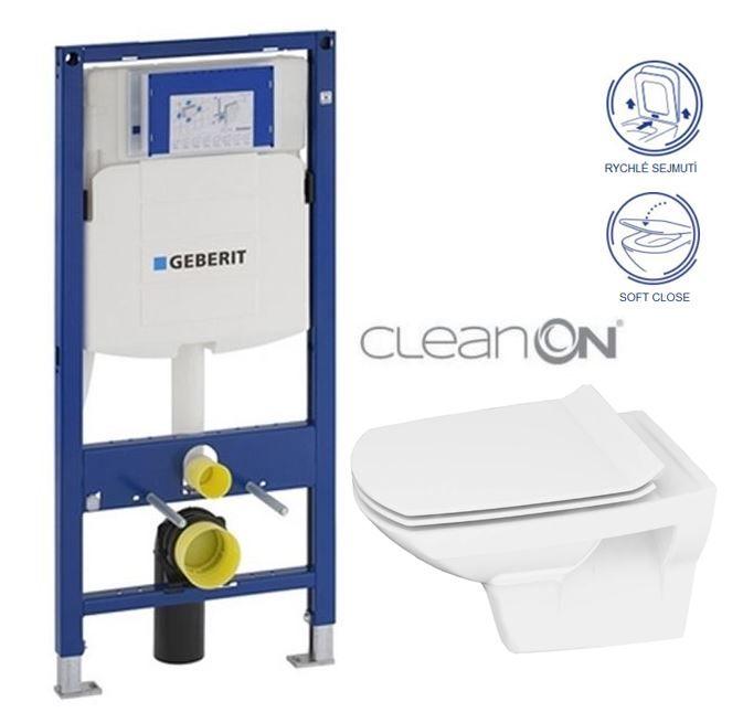 GEBERIT Duofix bez ovládacej dosky + WC CERSANIT CLEANON CARINA + SEDADLO 111.300.00.5 CA3