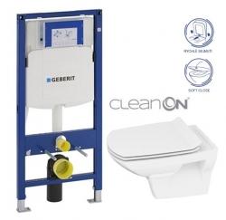 GEBERIT Duofix bez ovládacej dosky + WC CERSANIT CLEANON CARINA + SEDADLO (111.300.00.5 CA3)