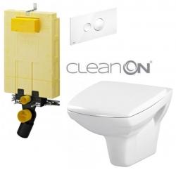 AKCE/SET/VIEGA - MONO modul WC čelné ovládanie + ovládacie tlačidlo BIELE + WC CERSANIT CARINA CLEAN ON + SEDÁTKA (V606732BI CA1)