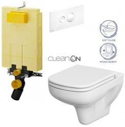 AKCE/SET/VIEGA - SET MONO modul WC čelné ovládanie + ovládacie tlačidlo BIELE + WC CERSANIT COLOUR CLEAN ON + SEDADLO (V606732BI CN1)
