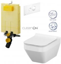 AKCE/SET/VIEGA - SET MONO modul WC čelné ovládanie + ovládacie tlačidlo BIELE + WC CERSANIT CREA HRAN. CLEN ON + SEDADLO (V606732BI CR2)