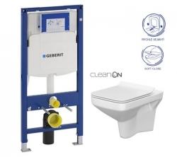 AKCE/SET/GEBERIT - SET Duofix pre závesné WC 111.300.00.5 bez ovládacej dosky + WC CERSANIT COMO NEW CLEANON + Sedadlo (111.300.00.5 CO1)